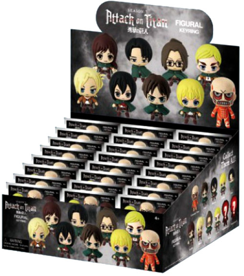 3D Figural Keyring Attack on Titan Mystery Box [24 packs]