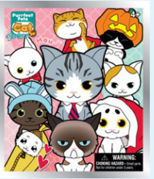 3D Figural Foam Bag Clip Purrfect Pets Cat Series 2 Mystery Pack