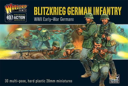 Bolt Action WWII Wargame Axis Blitzkrieg German Infantry Miniatures