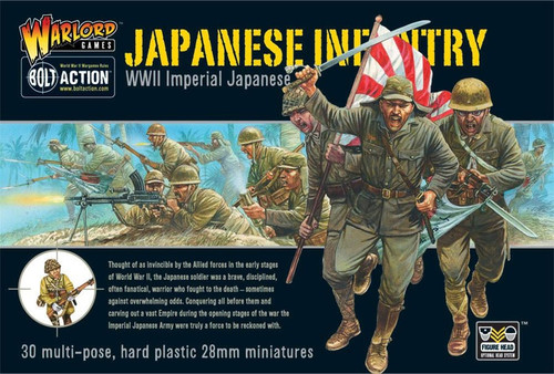 Bolt Action WWII Wargame Axis Japanese Infantry Miniatures