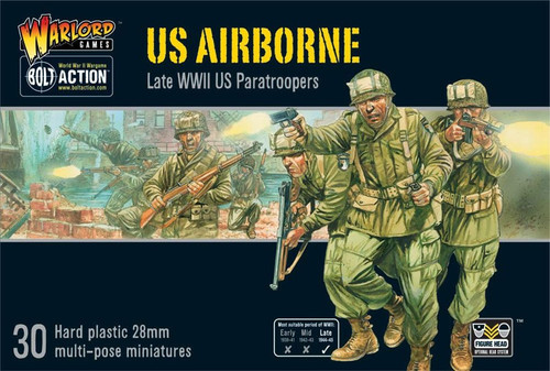 Bolt Action WWII Wargame Allies US Airborne Miniatures