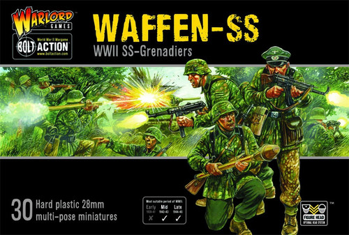Bolt Action WWII Wargame Axis Waffen-SS Miniatures