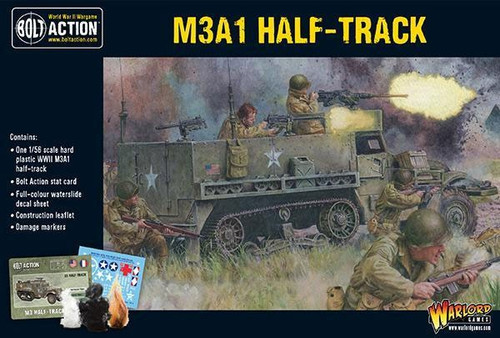 Bolt Action WWII Wargame Allies M3A1 Half-Track Miniatures