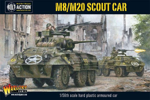 Bolt Action WWII Wargame Allies M8/M20 Scout Car Miniatures