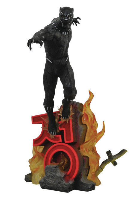 Back Panther Marvel Premier Collection Black Panther 12-Inch Collectible Resin Statue [Movie Version]
