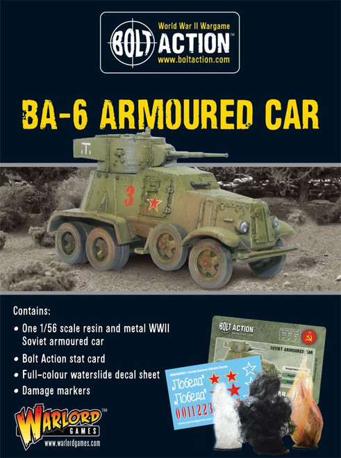 Bolt Action WWII Wargame Allies BA-6 Armoured Car Miniatures