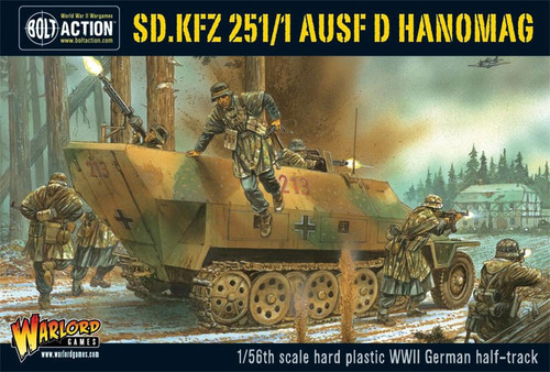Bolt Action WWII Wargame Axis SD.KFZ 251/1 AUSF D Hanomag Miniatures