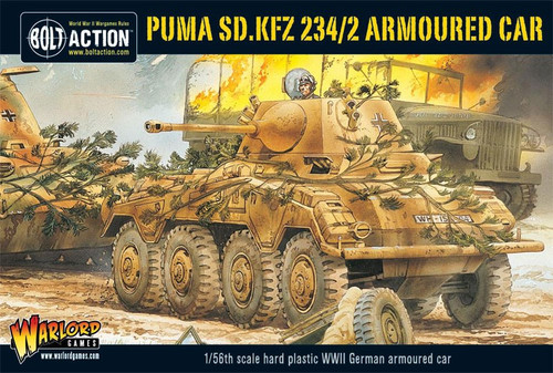 Bolt Action WWII Wargame Axis Puma, SD. KFZ 234/2 Armoured Car Miniatures