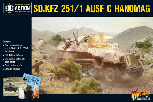 Bolt Action WWII Wargame Axis SD.KFZ 251/1 Ausf C Hanomag Miniatures