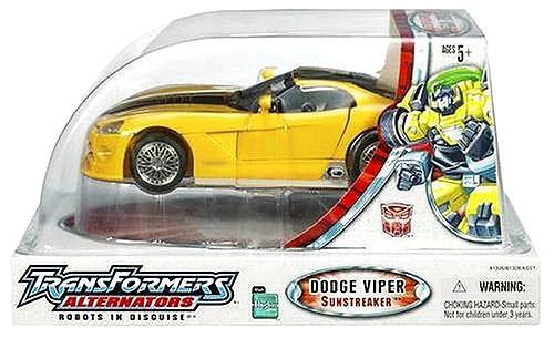 Transformers Alternators Dodge Viper SRT-10 Sunstreaker Action Figure [Damaged Package]