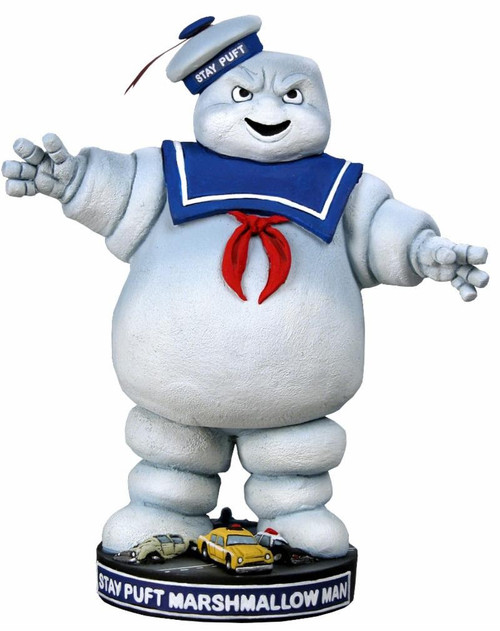 NECA Ghostbusters Head Knockers Stay Puft Marshmallow Man 7-Inch Bobble Head [Reissue Version]
