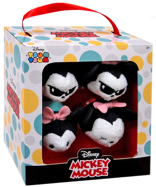 Disney Tsum Tsum Summer Mickey & Minnie Exclusive Mini Plush 4-Pack Set