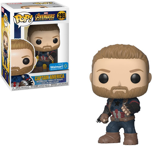 Funko Avengers Infinity War POP! Marvel Captain America Exclusive Vinyl Figure #299 [Avengers Infinity War]