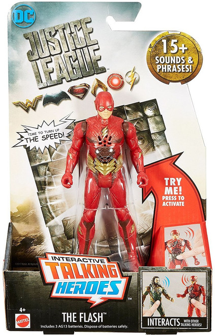 DC Justice League Movie Interactive Talking Heroes Flash Deluxe Action Figure