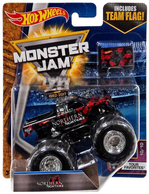 Hot Wheels Monster Jam 25 Northern Nightmare Die-Cast Car #10/10 [Tour Favorites]