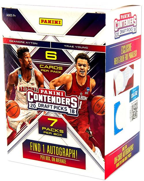 NBA Panini 2018-19 Contenders Draft Picks Basketball Trading Card BLASTER Box [7 Packs, 1 Autograph]