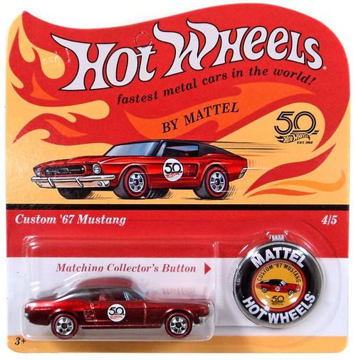 Hot Wheels 50th Anniversary Custom '67 Mustang Diecast Car