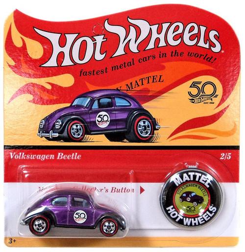 Hot Wheels 50th Anniversary Volkswagen Beetle Diecast Car
