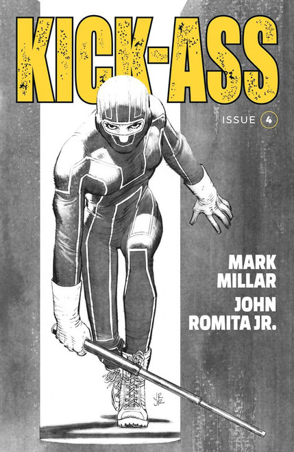 Image Comics Kick-Ass #4 Comic Book [Cover B Black & White Romita Jr]