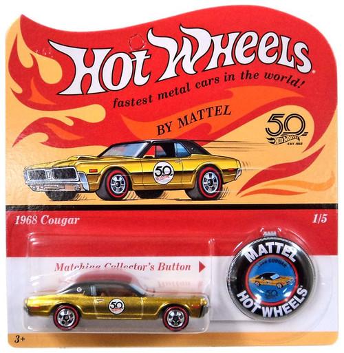 Hot Wheels 50th Anniversary 1968 Cougar Die-Cast Car
