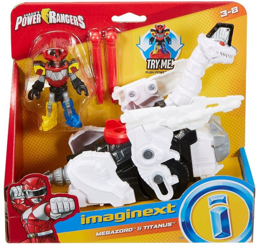 Fisher Price Power Rangers Imaginext Mighty Morphin Megazord & Titanus Figure Set