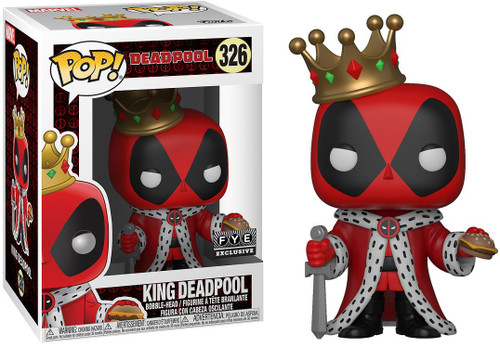 Funko POP! Marvel King Deadpool Exclusive Vinyl Bobble Head #326