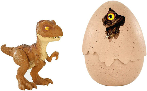 Jurassic World Fallen Kingdom Hatch 'N Play Dino Tyrannosaurus Rex Action Figure [Brown]