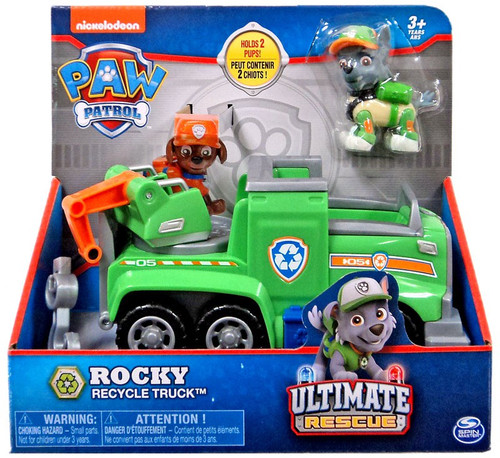 Paw Patrol Ultimate Rescue Rocky Recycle Truck Vehicle & Figure