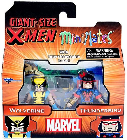 Marvel Secret Wars Minimates Series 68 Wolverine & Thunderbird 2-Inch Minifigure 2-Pack