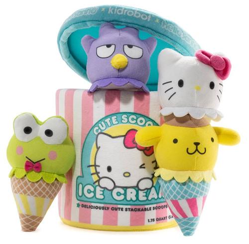 Hello Sanrio Ice Cream Scoops Medium Plush