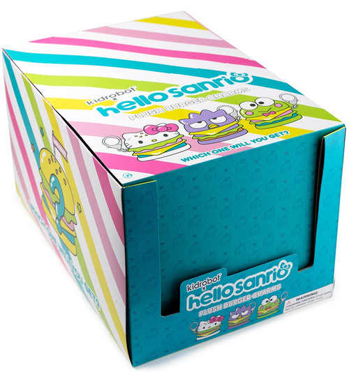 Sanrio Hello Kitty Plush Burger Charm 3.5-Inch Mystery Box [12 Packs]