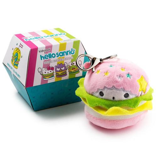 Sanrio Hello Kitty Plush Burger Charm 3.5-Inch Mystery Pack [1 RANDOM Figure]