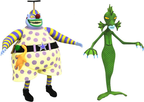 Nightmare Before Christmas Select Series 6 Clown & Undersea Gal Action Figure 2-Pack