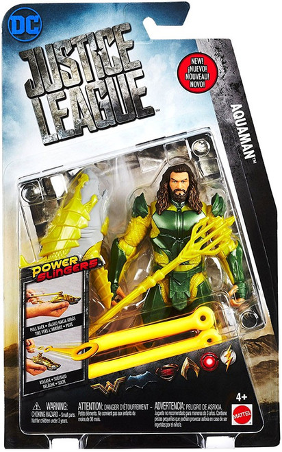 DC Justice League Movie Power Slingers Aquaman Action Figure
