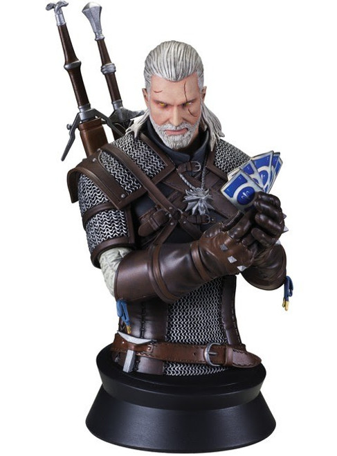 The Witcher 3: Wild Hunt Geralt Playing Gwent 8-Inch Bust