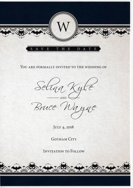 DC Selina Kyle & Bruce Wayne Wedding Save The Date DC Solicitation