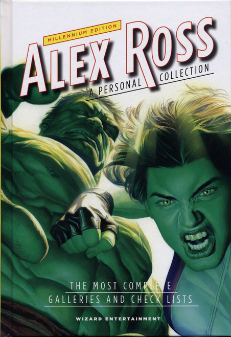 Wizard Alex Ross Millennium Edition Hardcover Book #38 of 100 [She Hulk / Hulk Cover Signed]