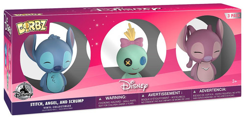 Funko Disney Lilo & Stitch Dorbz Stitch, Angel & Scrump Exclusive Vinyl Figure 3-Pack