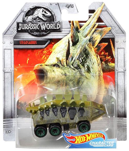 Jurassic World Hot Wheels Character Cars Stegosaurus Die Cast Car #4/5
