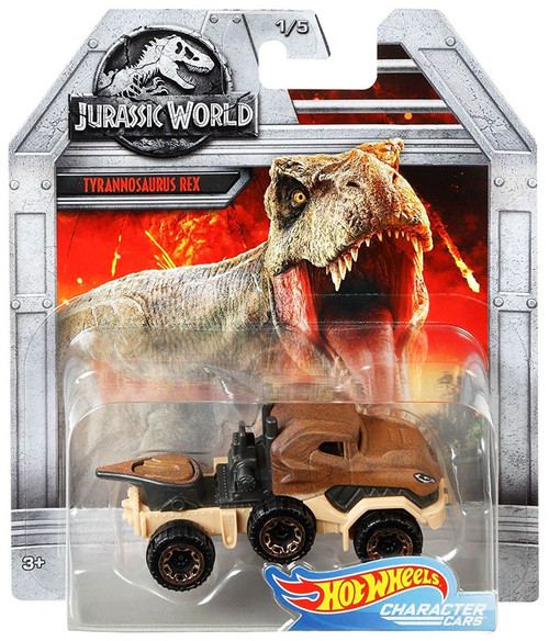 Jurassic World Hot Wheels Character Cars Tyrannosaurus Rex Die Cast Car #1/5