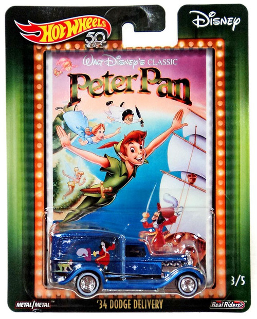 Disney Hot Wheels Peter Pan '34 Dodge Delivery Die Cast Car