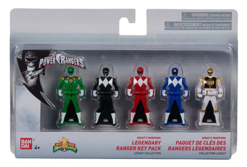 Power Rangers Mighty Morphin Legendary Ranger Key Pack Legacy Collection 5-Pack Roleplay Toy [25th Anniversary]