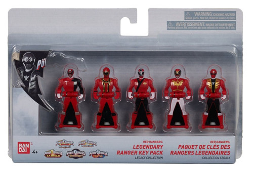 Power Rangers Legendary Ranger Key Pack Red Rangers Legacy Collection 5-Pack Roleplay Toy [25th Anniversary]