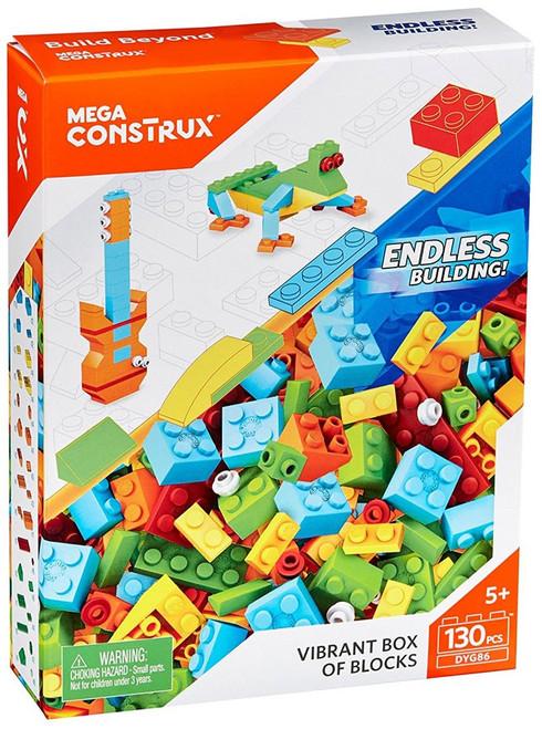 Mega Bloks Mega Construx Vibrant Box of Blocks Set DYG86