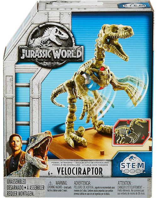 Jurassic World Fossil Striker Velociraptor Action Figure
