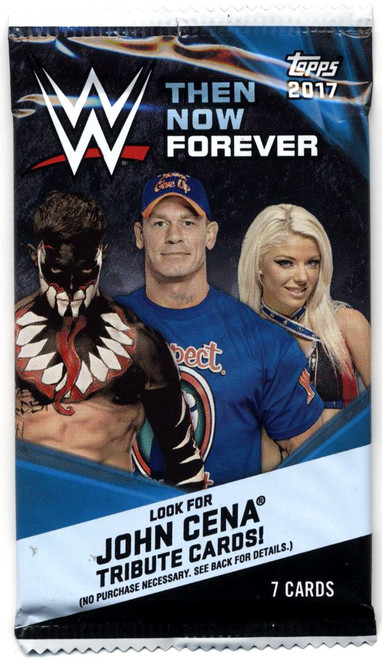 WWE Wrestling Topps 2017 Then Now Forever Trading Card Pack [7 Cards!]