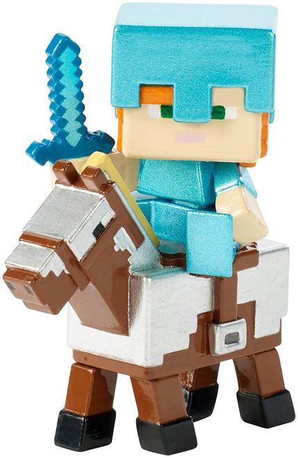 Minecraft Riders Alex on Armored Horse 1.5-Inch Mini Figure