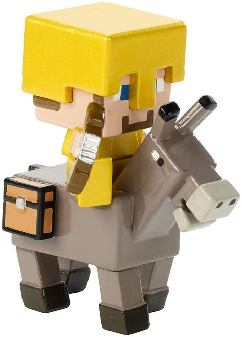 Minecraft Riders Steve on Donkey 1.5-Inch Mini Figure