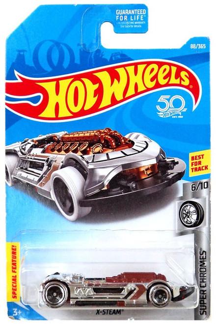 Hot Wheels Super Chromes X-Steam Die-Cast Car #6/10 [Brown & Chrome]