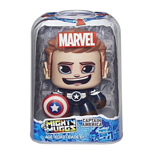 Marvel Mighty Muggs Captain America Vinyl Figure [Version 2]